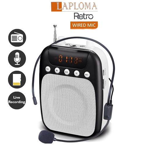 Laploma Portable Amplifier Speaker With Microphone