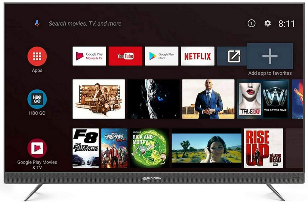 Micromax 4K UHD Android Smart LED TV