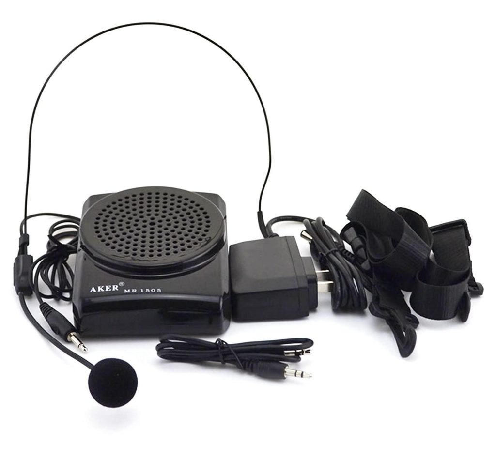 portable microphone and speakers for teachers
