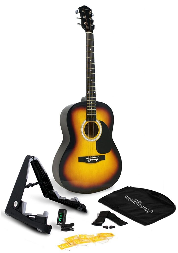 Martin Smith W-101-SB-PK Acoustic Guitar