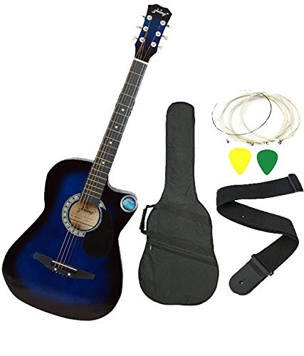 Jixing Blue Acoustic Guitar